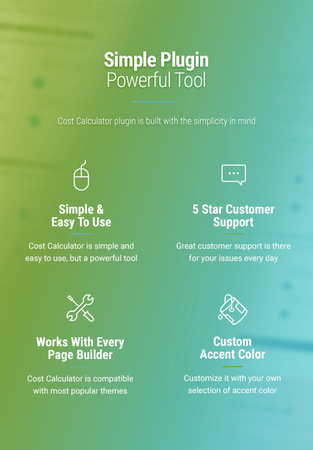 - Plugin Info 004 - Cost Calculator – WordPress Plugin