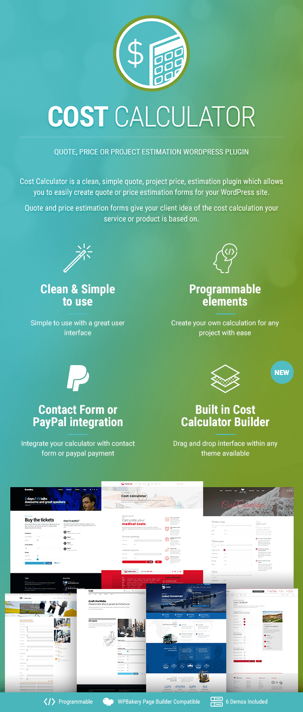 Cost Calculator WordPress - 2