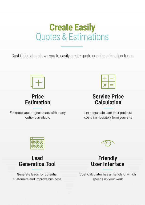 Cost Calculator WordPress - 4